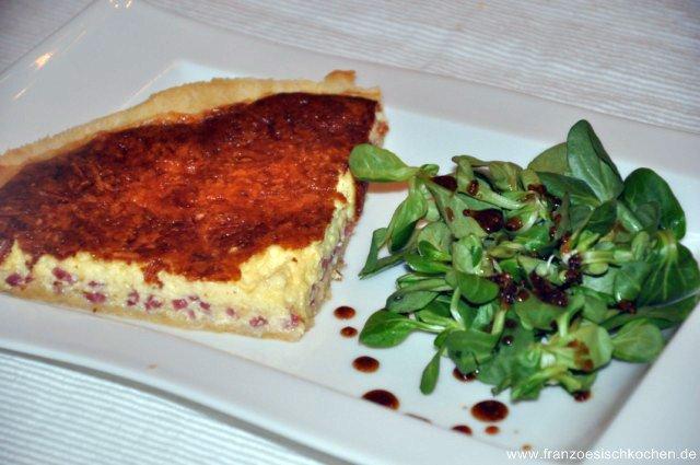 Quiche Lorraine  au fromage (gratinierter Lothringer Speckkuchen)