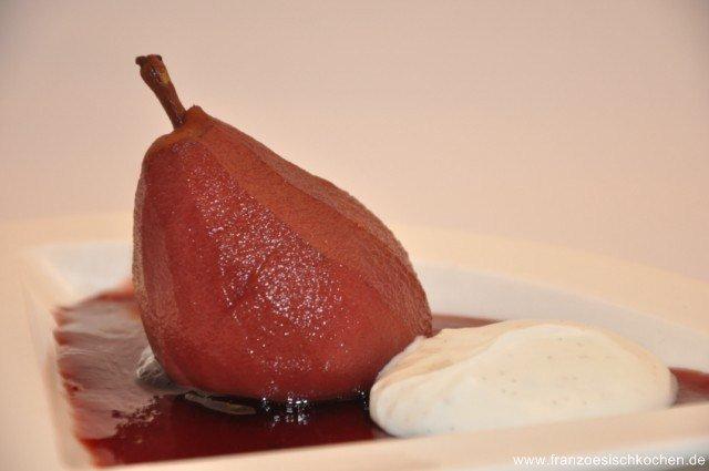 Poires pochées au vin rouge (Birne in Rotwein)