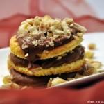 Dessert aux chataignes et aux 2 chocolats  (Dessert mit Kastanien und 2 Schokoladen)