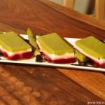 Terrine Asperge-Mozzarella-Betterave rouge (Terrine von Spargel-Mozzarella-Rote Beete)