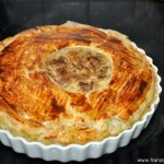 Tourte au confit de canard et girolles ou champignons des bois (Pastete von Entenconfit und Pfifferlinge oder Waldpilze)
