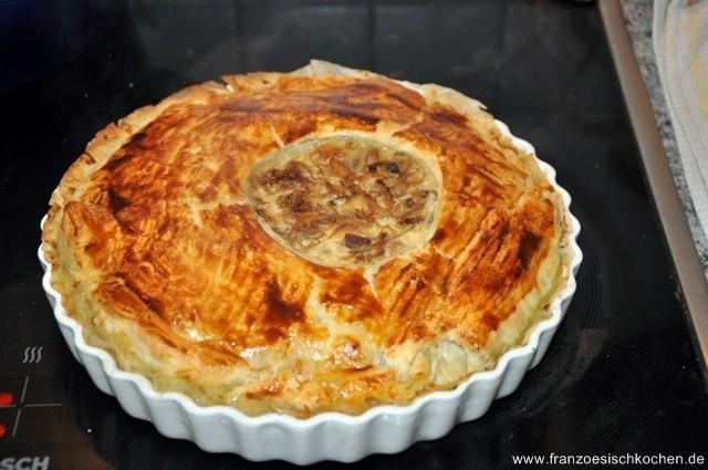 Rezept: Tourte au confit de canard et girolles ou champignons des bois (Pastete von Entenconfit und Pfifferlinge oder Waldpilze)   www.franzoesischkochen.de