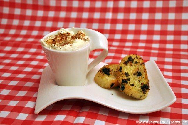 Rezept: Cappuccino de Cèpes et Bolets (Cappuccino von Waldpilzen)   www.franzoesischkochen.de