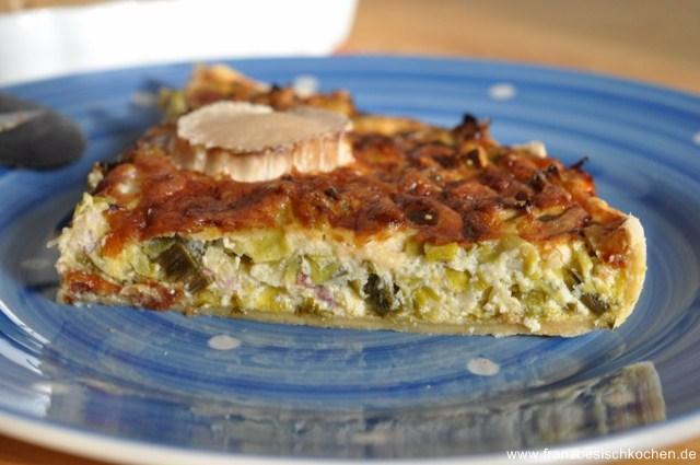 Rezept: Tarte aux poireaux (Porree Tarte)   www.franzoesischkochen.de