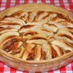 Tarte aux pommes pralinée (Apfelkuchen mit Pralinen Creme)