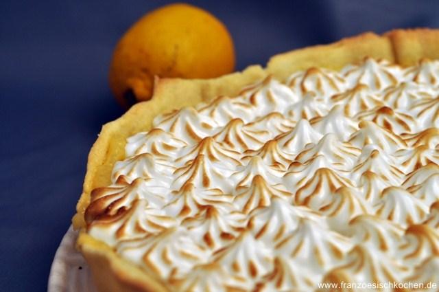 Rezept: Tarte au citron meringuée (Zitronen Tarte mit Baiser)   www.franzoesischkochen.de