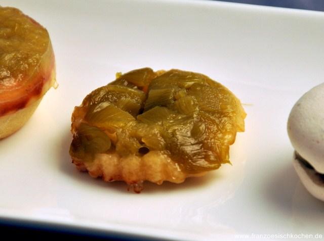 Rezept: Tatin et tartelette à la rhubarbe (Rhabarber Tatin und  Tartelette)   www.franzoesischkochen.de