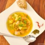 Soupe de saumon au safran