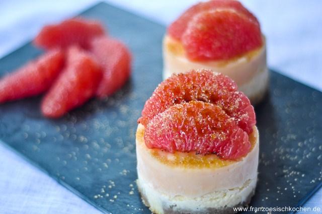 Rezept: Entremets pamplemousse et speculoos (Spekulatius   Grapefruit Törtchen)   www.franzoesischkochen.de