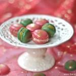 Macarons pour Noel aux épices – pamplemousse, et crème de calisson ( Macarons für Weihnachten mit Weihnachtsgewürze – Grapefruitcurd und Calisson-Creme)