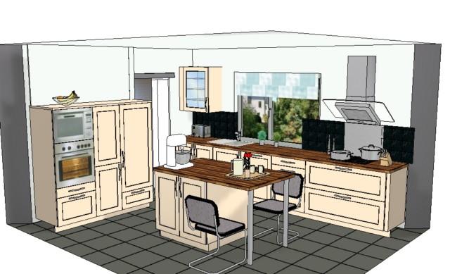 Mon projet de nouvelle cuisine (mein Projekt: eine neue Küche)