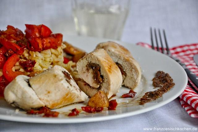 Suprême de dinde à la tapenade et tomates séchées