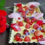 Tarte du jardin fruits et fleurs