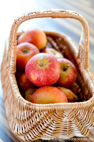 Rezept: Suprême de dinde aux pommes et calvados (Puten mit Äpfeln und Calvados)   www.franzoesischkochen.de