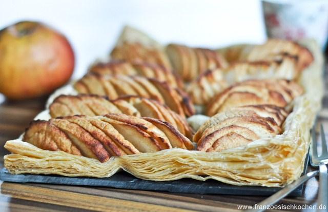 Rezept: Tarte aux pommes ultra facile (super einfache Apfel Tarte)   www.franzoesischkochen.de