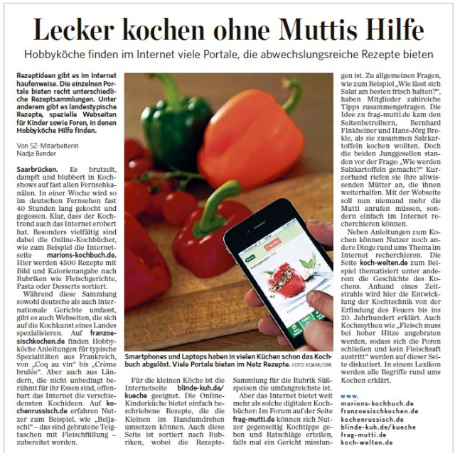 Rezept: Presseberichte   www.franzoesischkochen.de