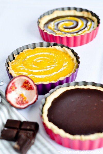 Rezept: Tartelettes Passion Chocolat   www.franzoesischkochen.de
