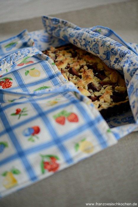Rezept: Deutsch französische Pflaumen Streusel Tarte !    www.franzoesischkochen.de
