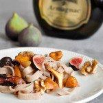 Rezept: Tartine dautomne et recette de Pain à la châtaigne (Herbst Schnitte auf Esskastanien Brot)   www.franzoesischkochen.de