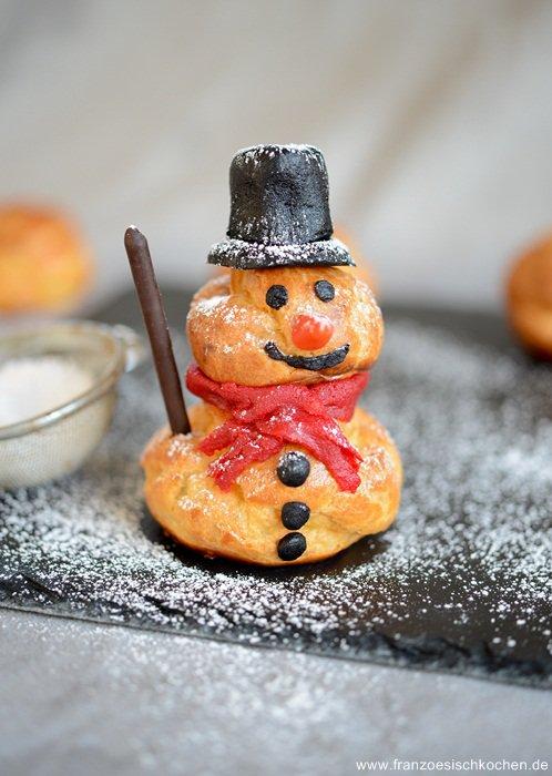 Rezept: Bonhomme de neige ( Schneemann )   www.franzoesischkochen.de