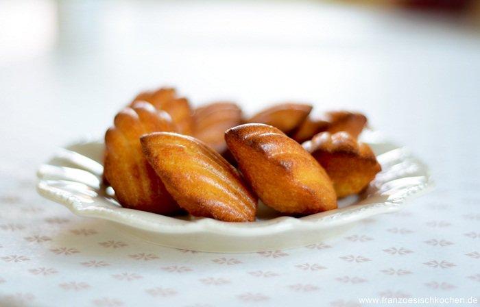 Rezept: Madeleines au potimarron ( Madeleines mit Kürbis )   www.franzoesischkochen.de