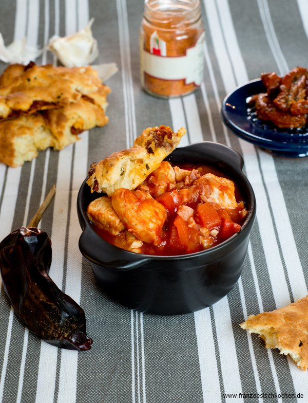 Rezept: Poulet Basquaise tout simple ( Baskisches Huhn ganz einfach ! )    www.franzoesischkochen.de