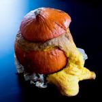 Gruseliger Kürbis-Kuchen für Halloween ( herzhafter Kürbis-Kuchen )