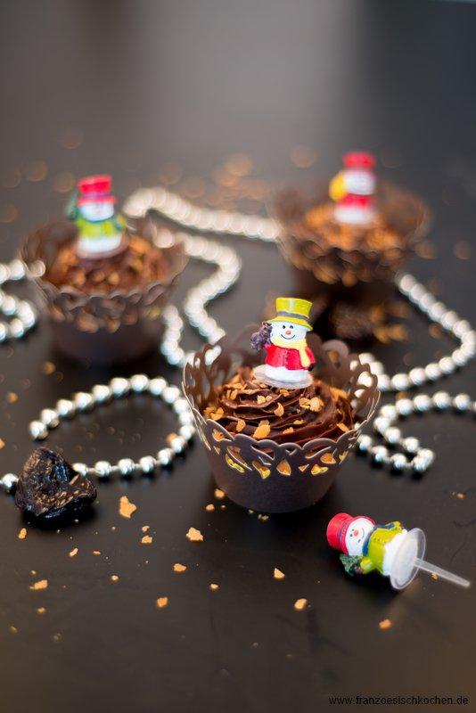 Rezept: Pain dépices façon Cupcake ( Lebkuchen Cupcake mit knuspriger Ganache )    www.franzoesischkochen.de