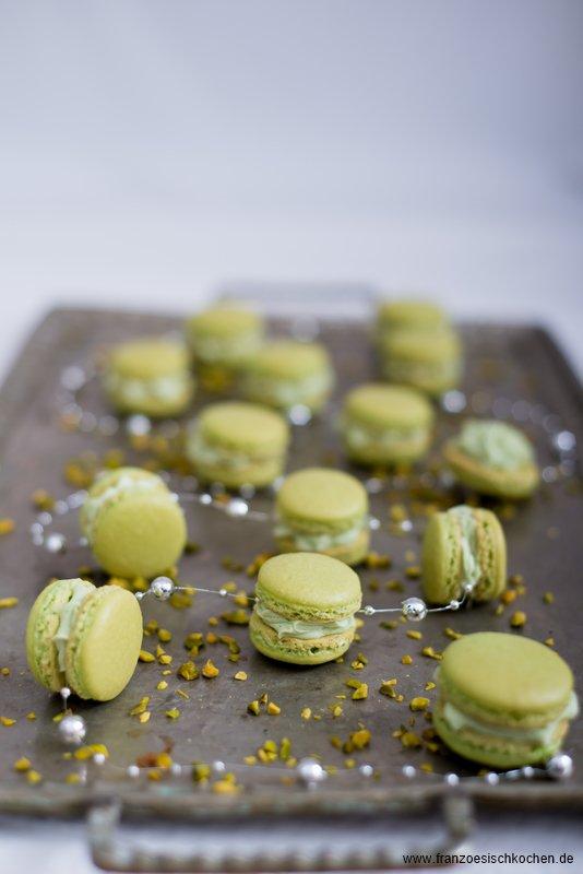 Rezept: Macarons à la pistache ( Pistazien Macarons )    www.franzoesischkochen.de