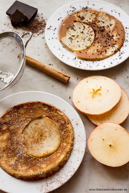 Crêpes aux pommes (Crêpes mit Äpfeln)