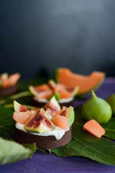 Tartelettes figues et melon (Tartelettes mit Feigen und Melone)