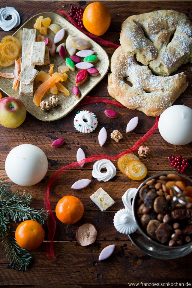 Pompe à l'huile et les 13 desserts de Noël (13 weihnachtliche Nachtische aus der Provence)