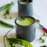 Soupe crémeuse petits pois-menthe (cremige Erbsen-Minz-Süppchen)