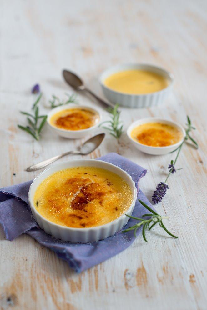 Crème brûlée mit Rosmarin (und die Gewinner)