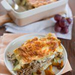 Lasagne mit Enten-Confit & Pfifferlingen und das Basis-Rezept für Bechamel Sauce (FAQ)
