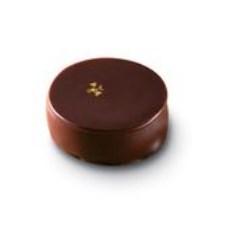 Dunkle Schokolade mit 70% Guanaja Ganache und Blattgold