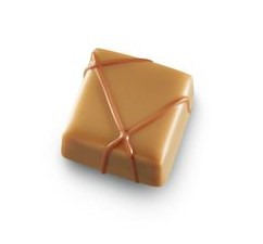 Blonde Dulcey Schokolade mit einer Caramelia Milchschokoladen-Ganache