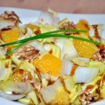 Salade d'endive, orange et noix (Chicorée Salat mit Orange und Nüsse)