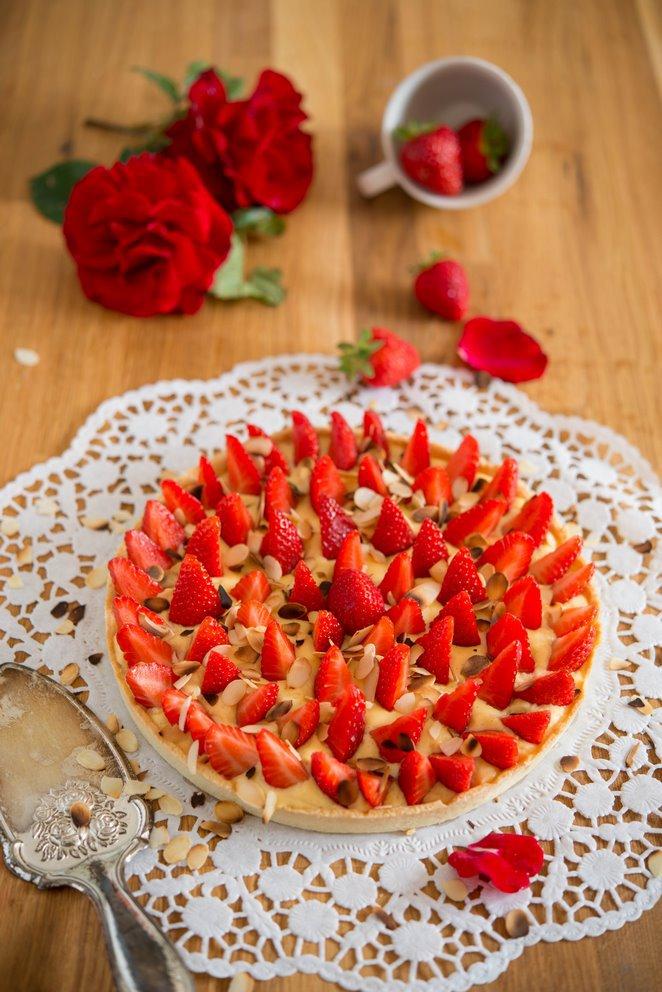 Französische Erdbeertarte (Tarte aux fraises)