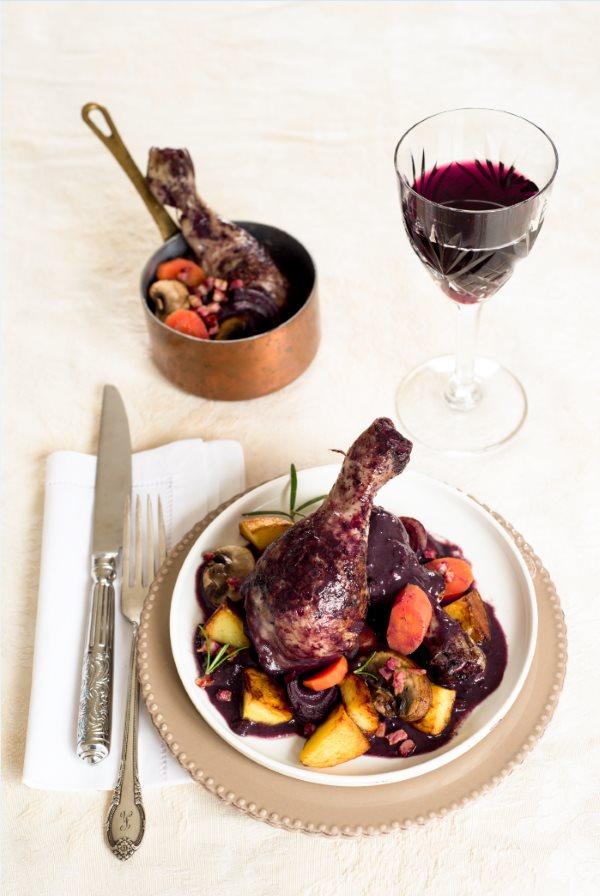 Coq Au Vin Huhn In Rotwein Rezept Französisch Kochen