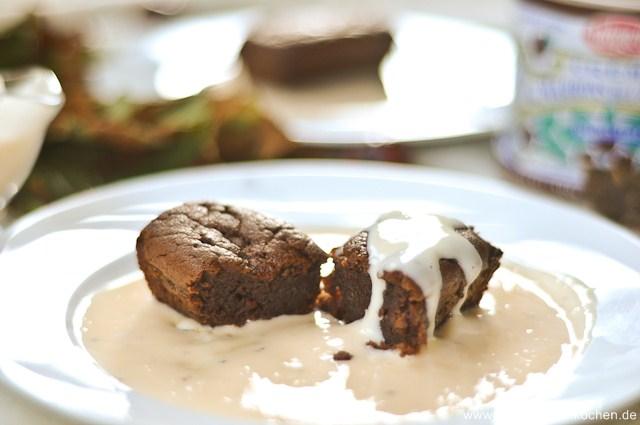 Fondants chocolat et crème de marrons