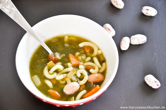 Soupe au pistou à ma façon (Pistou Suppe nach meiner Art)