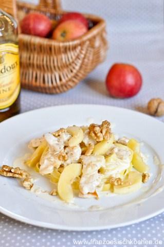 Suprême de dinde aux pommes et calvados (Puten mit Äpfeln und Calvados)