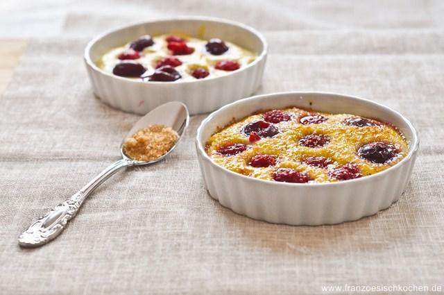 Crème pistache aux fruits rouges façon crème brûlée