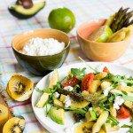 Salade vitaminée (Salat mit Spargel, Frischkäse und vielen Vitaminen)