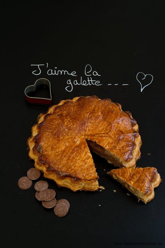 Galette des rois au chocolat ( Dreikönigsfest-Kuchen mit Schokolade)
