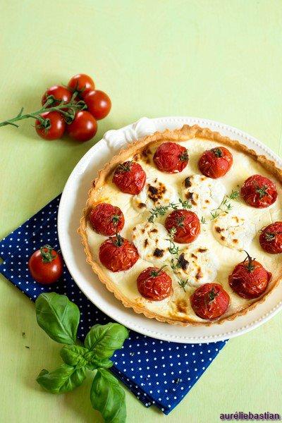 Quiche aux tomates et chèvre (Quiche mit Tomaten und Ziegenkäse)