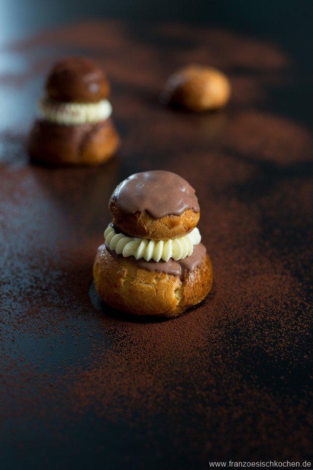 Religieuse au chocolat (Schokoladen-Windbeutel)