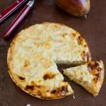 Quiche poires et Roquefort (Quiche mit Birnen und Blauschimmelkäse)