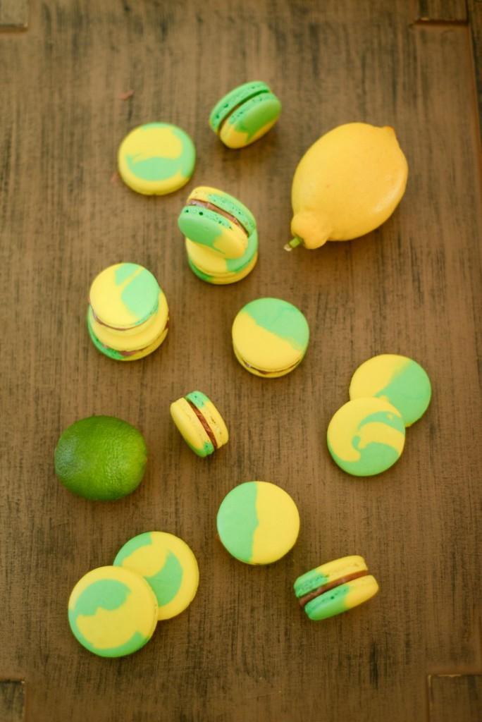 Zweifarbige Macarons (Macarons bicolores)